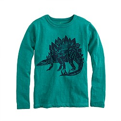 Boys' long-sleeve stegosaurus tee