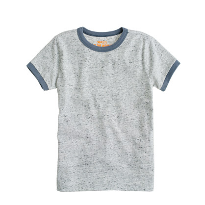 Boys' heathered jersey ringer tee