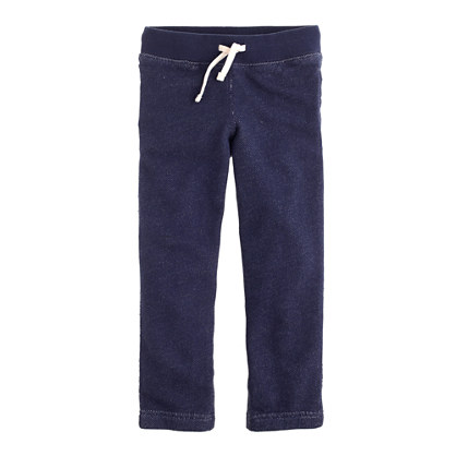 Boys' pull-on knit pant in rugged terry