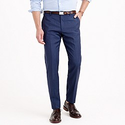 Ludlow slim suit pant in heathered Italian wool