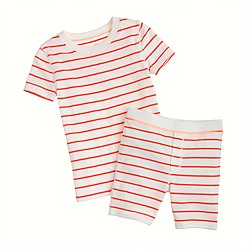 Boys' short-sleeve sleep set in thin stripe