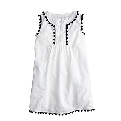 Girls' pom-pom dress in white