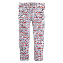 Girls' Liberty ankle toothpick jean in Matilda Tulip floral