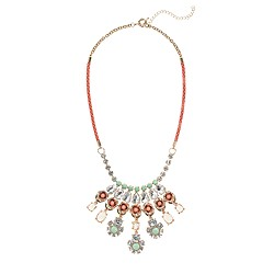 Neon rose crystal necklace