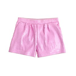Girls' pull-on sequin short