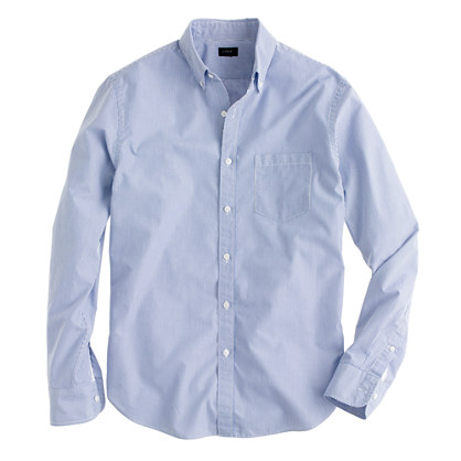 Tall Secret Wash shirt in blue stripe