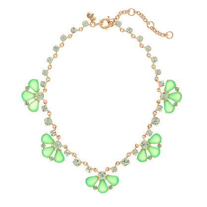 Glass petals necklace