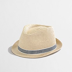Factory kids' ribbon straw fedora