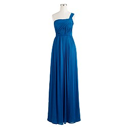 Lucienne long dress in silk chiffon