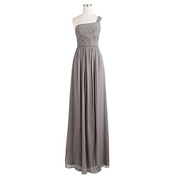 Petite Lucienne long dress in silk chiffon