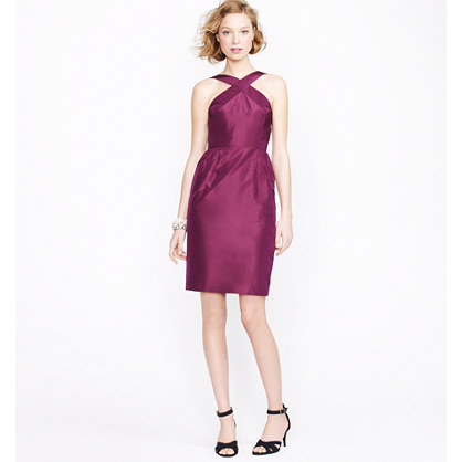 Petite Whitley dress in silk taffeta