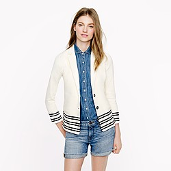 Maritime blazer in placed stripe