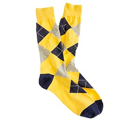 Lightweight argyle socks