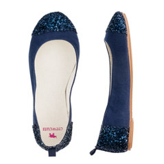 Girls' glitter toe ballet flats
