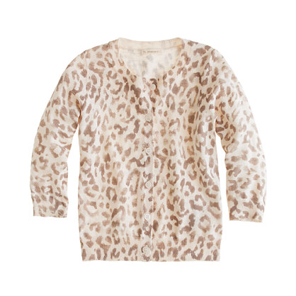 Girls' Caroline cardigan in safari cat