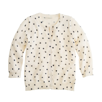 Girls' Caroline cardigan in shooting stars