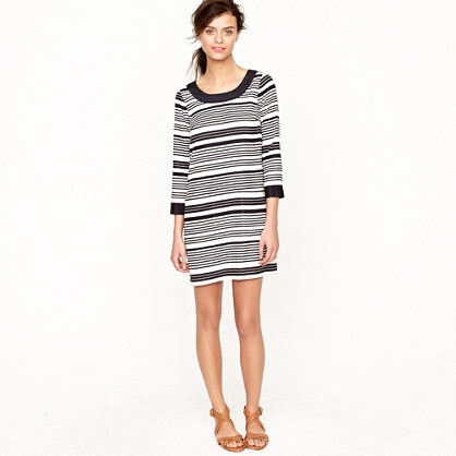 Jules dress in silk stripe