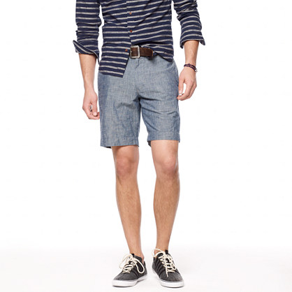 Stanton short in lightweight chambray