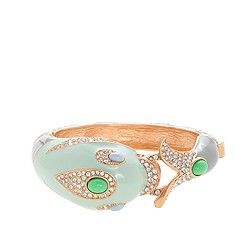 Enameled dolphin bangle