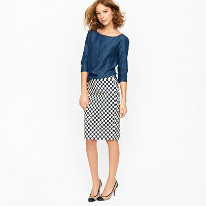 No. 2 pencil skirt in Pop Art polka dot