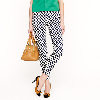 Tall café capri in Pop Art polka dot