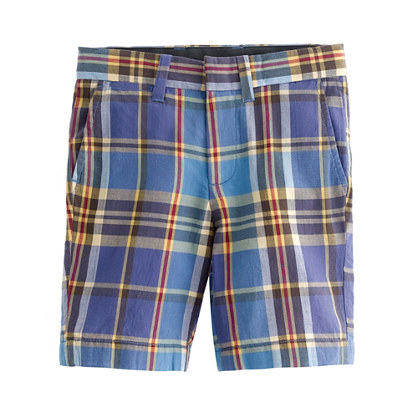Boys' Indian cotton club short in Eastwick plaid