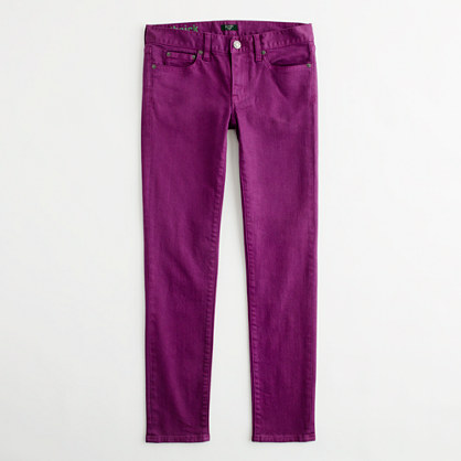 Factory skinny jean in garment dye