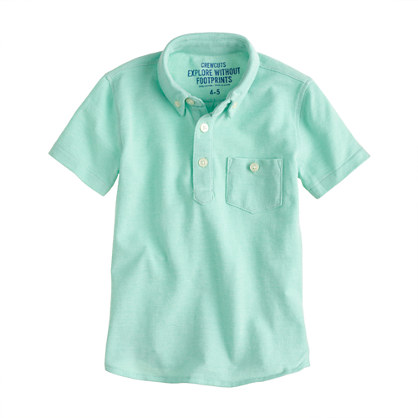 Boys' oxford pocket polo