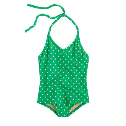 Girls' polka-dot halter tank