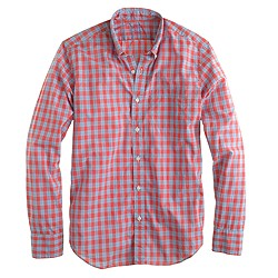 Slim lightweight shirt in poppy plaid