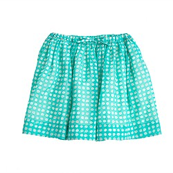 Girls' full skirt in organdy dot