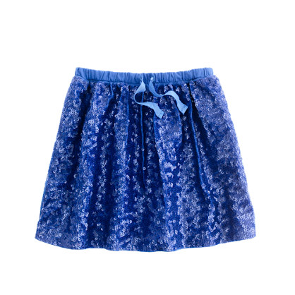 Girls' playdate skirt in sequins