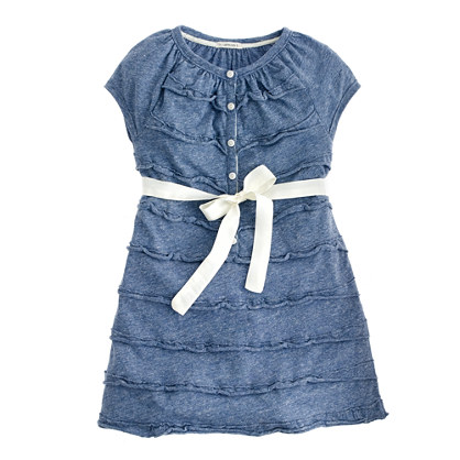 Girls' cupcake henley dress