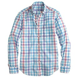 Slim lightweight shirt in multi check