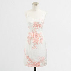 Factory floral embroidered sundress