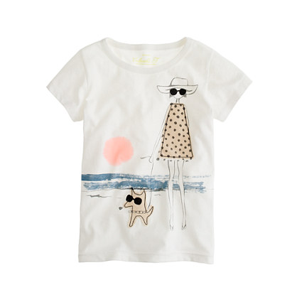 Girls' seaside stroll tee
