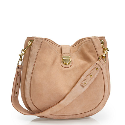 Telegram suede hobo