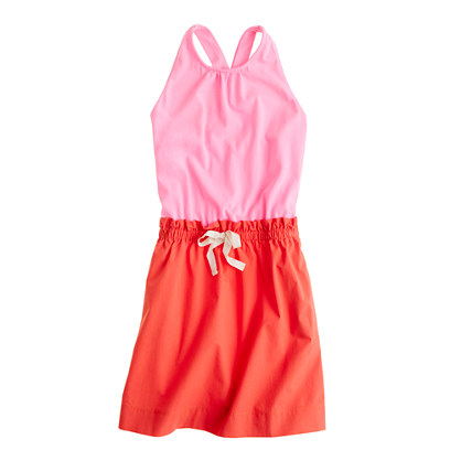 Girls' colorblock dress