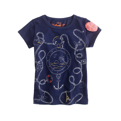 Girls' porthole tee