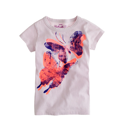 Girls' butterfly tee