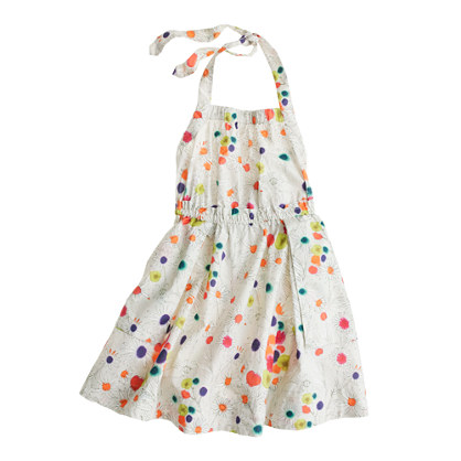 Girls' apron dress in wildflower print