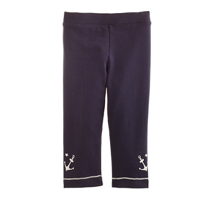 Girls' capri leggings in anchor