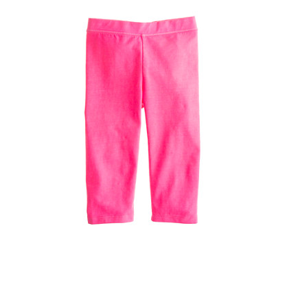 Girls' everyday capri leggings in neon