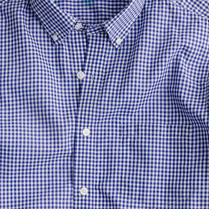Secret Wash lightweight shirt in Gabel gingham