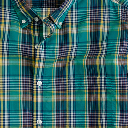 Secret Wash lightweight shirt in Buroughs plaid