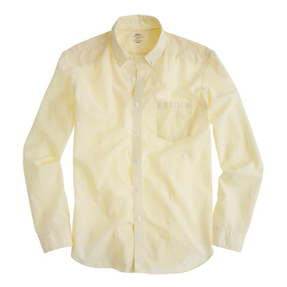 Secret Wash lightweight shirt in yellow stripe