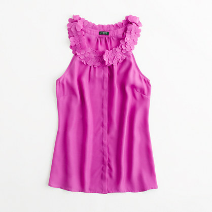 Factory petal-collar cami