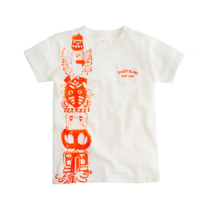 Boys' island totem pocket tee