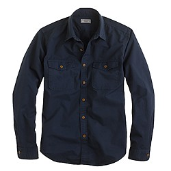 Wallace & Barnes garment-dyed camp shirt