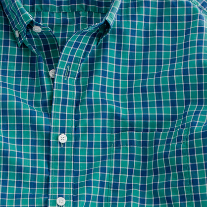 Secret Wash lightweight shirt in Brower check